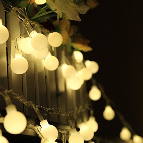 SUMCOO Solar Powered String Lights, 8 Flash Mode Led Solar Light, Waterproof String Lights, Indoor/Outdoor Solar Decoration Lights for Gardens,Patios,Christmas(Warm White)
