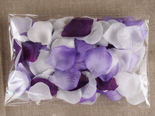 School Supplies 1000pc Mixed Color Rose Petals Purple,Lavender,White Wedding Table Decoration