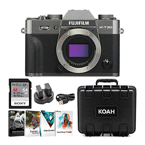 Great Features Of Fujifilm X-T30 Mirrorless 4K, 26.1MP Camera (Body, Charcoal) with Sony 64GB UHS-II...