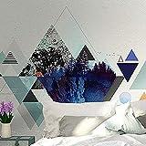 XHXI Mural moderno minimalista personalidad geométrica abstracta pintura murales de gama alta 3D papel pintado pegar sala de estar la pared para dormitorio mural frontera-350 cm × 256 cm