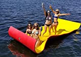 iFloats 12 Foot Water Pad Party Float with High Flotation Floating Foam Pad for Water Recreation and Relaxing (Red & Yellow, 12 Foot)