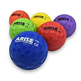 Bouncy Ball, 2.5 Inch, Mini Kickball Set, Small Playground Ball, Kids Outdoor Toy, Gift for Kids Age 3-5, Preschooler, Rubber, High Bounce, No Need to Inflate, Indoor, Set of 6 Rainbow Colors - ARISE