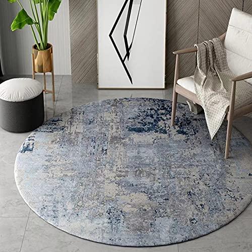 Fashion Round area alfombras 100 cm 120 cm 150 cm 180 cm 200 cm alfombra para comedor sala de manto Dormitorio Oficina de la oficina Matters Silla de oficina Lavable Yoga Mat ( Size : Diámetro 120cm )
