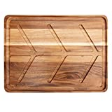 Villa Acacia Wood Carving Board, Extra Large Juice Groove and Well, 24 x 18 x 1.5 Inches