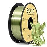 Amazon Brand-Eono Silk PLA Filamento para Impresora 3D, 1.75mm, 1kg, Color Bronce, Impresiones con...