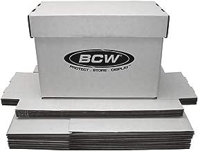 BCW Short Comic White Storage Box | Holds 150-175 Comics| 200 lb. Test Strength | (10-Pack)