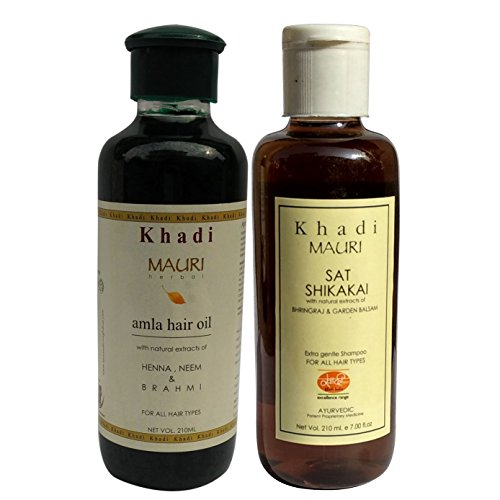 Khadi Amla & Shikakai Shampoo - Complete Hair Nourishment - Herbal & Ayurvedic - 210 ml