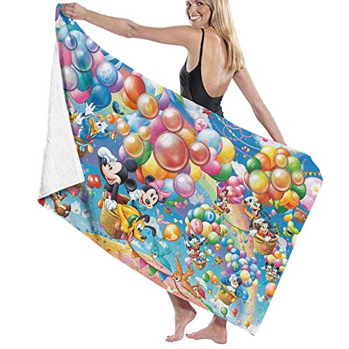 Custom made Disney Character - Toalla de baño (microfibra, suave, secado rápido, ligera, baño/playa/natación/gimnasio, 80 x 130 cm)