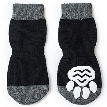 Pet Heroic Chaussettes antidérapantes pour chien et chat avec renfort en caoutchouc, contrôle de traction pour usage en intérieur, convient aux chiens et chats de taille XS à XL