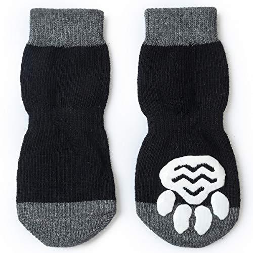 Pet Heroic 8 tamaños Calcetines antideslizantes para perros gatos, Protectores de patas...