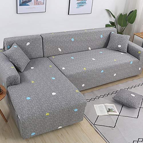 WXQY Fundas de sofá elásticas para Sala de Estar Sofá en Forma de L Necesita Comprar 2 Piezas Funda de sofá Estirada Funda de sofá de Esquina Fundas A6 2 plazas