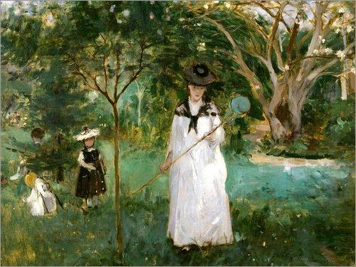 Posterlounge Cuadro de PVC 130 x 100 cm: La Chasse aux Papillons de Berthe Morisot/akg-Images