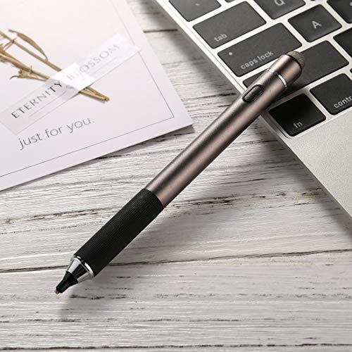 Penna stilo touchscreen capacitiva ricaricabile universale a doppia testa ricaricabile con pennino in metallo superfine da 2,3 mm, for iPhone,...