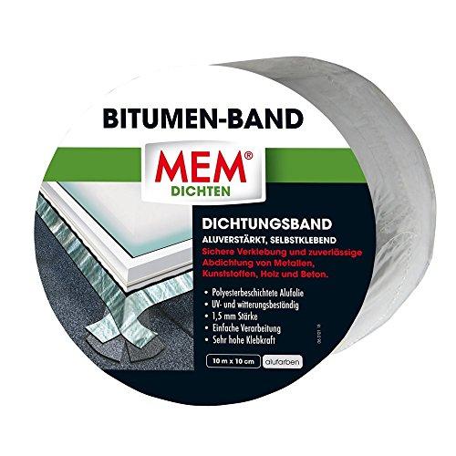 MEM 500480 Bitumen Band 10m x 75 mm alu