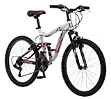 Mongoose 24' Ledge 2.1 Boys Mountain Bike, Silver/Red