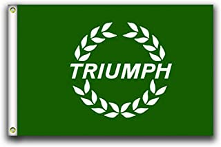 MCCOCO Triumph Green Flags Banner 3X5FT-90X150CM 100% Polyester,Canvas Head with Metal Grommet,Used Both Indoors and Outdoors