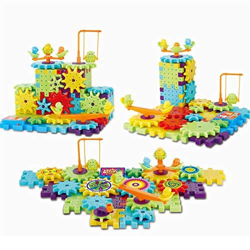 Yinuneronsty 81 Blocs De Briques en Plastique De Blocs De Construction De Modèle 3D D'engrenages électriques De PCS 3D éducatifs