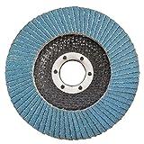 Zerama 10pcs Discos Flap 4,5 Pulgadas 115mm Discos de Lijado 40/60/80/120 Grit Amoladora Angular de molienda