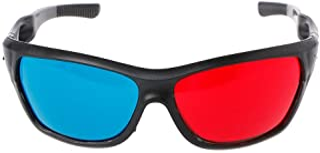 Rabortw 3Dメガネ映画ゲームDVDビデオTVのための普遍的な白いフレームの赤く青いアナグリフ3Dガラス
