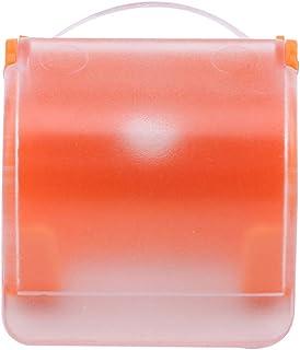 MARUIKAO サクションカミソリラック 吸盤シェーバー収納 浴室カミソリホルダー シェーバーラック ハンガー シェーバー棚 保存ラック オレンジ
