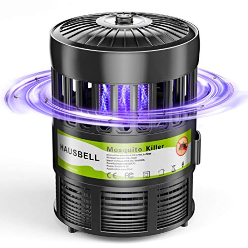 HAUSBELL Mosquito Killer Lamp, Electric Bug Zapper, Mosquito Trap, Pests Gnat Trap, Insect Fly Trap, UV LED Bug Control Inhaler, USB Powered
