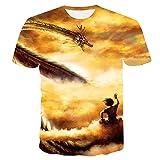ZZDYRSRE Camiseta Unisex AnimeDragon BallGoku-C_L