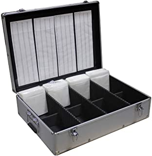 New MegaDisc 1000 CD DVD Silver Aluminum Media Storage Case Mess-Free Holder Box with Sleeves Without Hanger