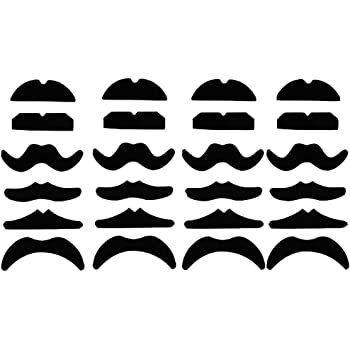 Haawooky 24 PCS Fake Mustaches,Mustache Party,Mustache for Masquerade Party and Performance Black