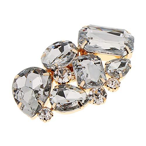 B Baosity Clip Floral Hebilla ccon Diamantes Artificiales Adorno para Botas Zapatillas de Novia Bricolaje