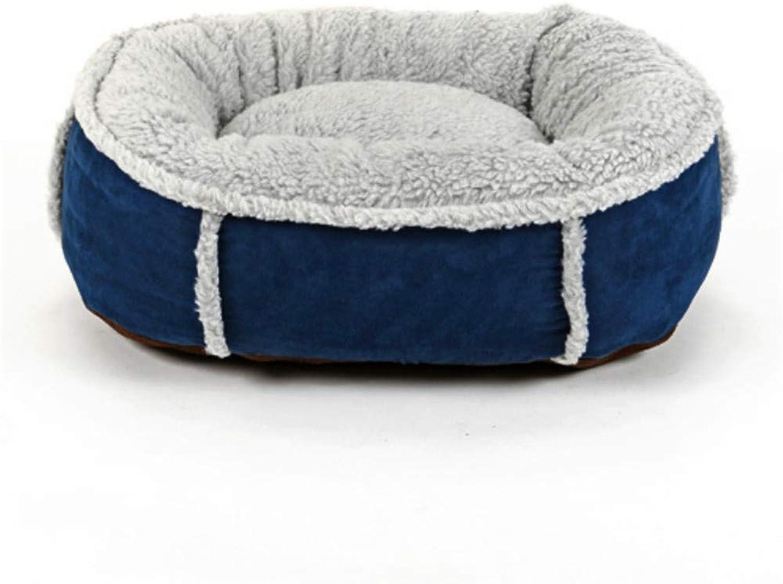 comprar barato Wuwenw Cama Extraíble Extraíble Extraíble Y Lavable, Cálida, Suave, para Mascotas, Gato, Cama para Perros, con Doble Cochea, Almohada, Casa para Mascotas, Bolsa De Dormir para Mascotas, S, Azul  marcas de diseñadores baratos