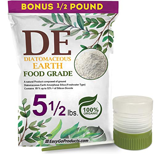 EasyGoProducts Natural 100% Food Grade Diatomaceous Earth, EGP-DE-05-D, 5.50 Lbs w/Duster