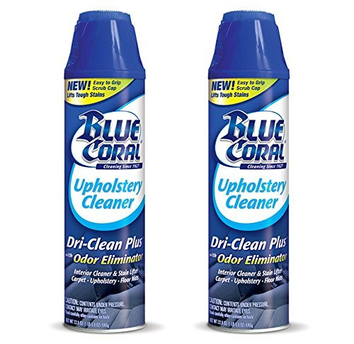 Our #7 Pick is the Blue Coral 2-Pack Car Upholstery Cleaner