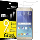 NEW'C 2 Unidades, Protector de Pantalla para Samsung Galaxy J5 2015 (SM-J500), Antiarañazos, Antihuellas, Sin Burbujas, Dureza 9H, 0.33 mm Ultra Transparente, Vidrio Templado Ultra Resistente