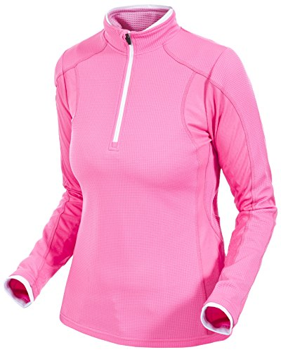 Trespass Ollog Maillots Manches Longues Femme Rose Haute Visibilité FR : S (Taille Fabricant : S)