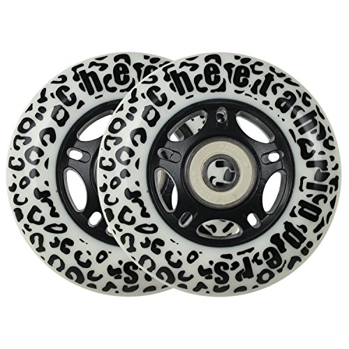 WHITE CHEETAH Wheels for RIPSTICK ripstik wave board ABEC 9 76MM 89A OUTDOOR Model: DECK