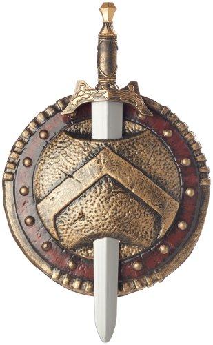 California Costumes Men's Spartan Combat Shield & Sword 12',Multi,One Size Costume Accessory
