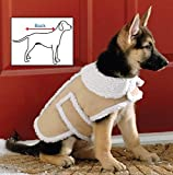 Shearling Fleece Dog Winter Coat Small by Collections Etc