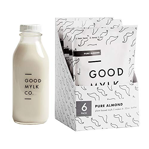 Organic Unsweetened Almond Milk Concentrate - 6 Pack Bundle - Make 6 Fresh 32oz Bottles At Home