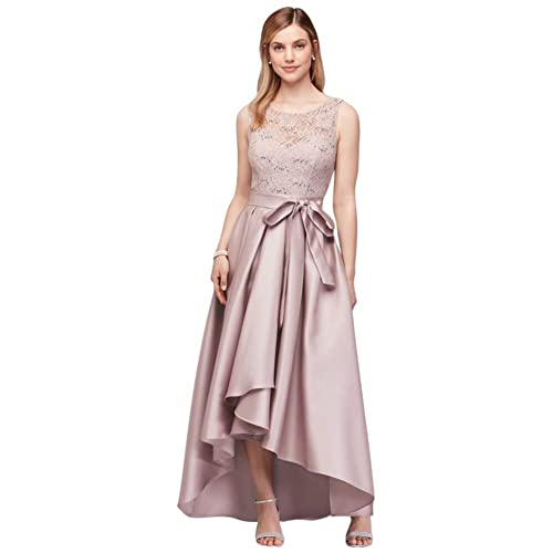 5dee552681d Sequin Lace Mother of Bride Groom Dress with Mikado Skirt Style 3552DB