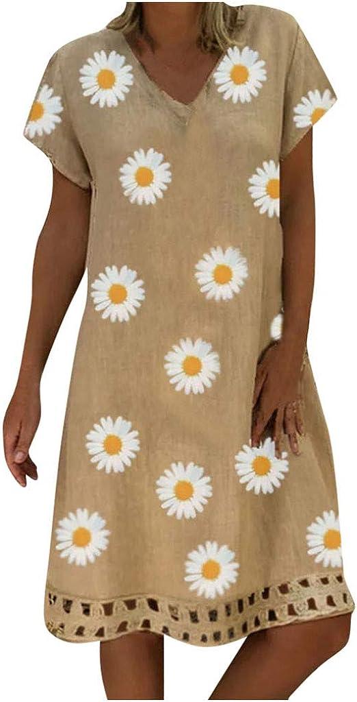 HebeTop Women's Summer Cheap Cotton 1 year warranty Short Casual Sleeve Loo Sleeveless