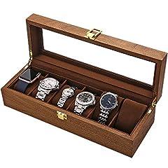 LOSKORIN 6 Uhrenaufbewahrung Uhrenkasten Holz