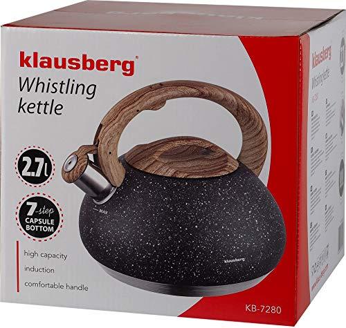 Top-Qualitaet-Wasserkocher-mit-einer-Pfeife-von-27-L-aus-hochwertigem-Edelstahl-praktisch-und-praktisch-Gray-Marble