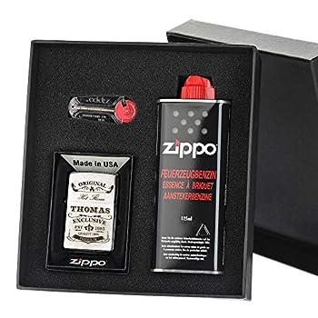 Zippo Lot de 3 briquets coupe-vent avec gravure