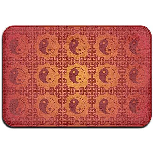 Joe-shop Tapijt Anti-slip Vlek Fade Resistant Deur Mat Rood Yin-Yang Outdoor Indoor Mat Room Tapijt