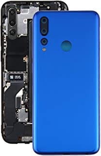 Lingland Battery Back Cover for Lenovo K6 Enjoy(Black) cell phone rear covers placement parts (Color : Blue)