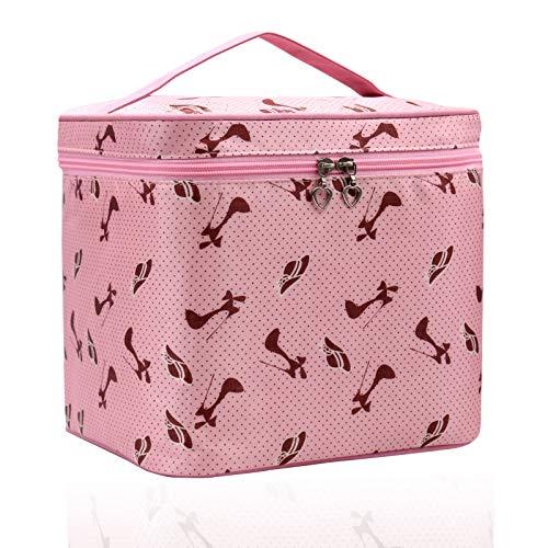 Borsa Cosmetica, Grande borsa per cosmetici, Borsa Make Up, Donna Trousse Organizer,Sacchetto Impermeabile per le Donne-Rosa