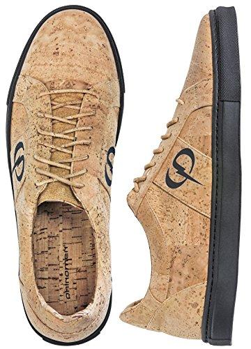 PHINOMEN PHILING Cork Sneaker - Nature Black - Größe 41
