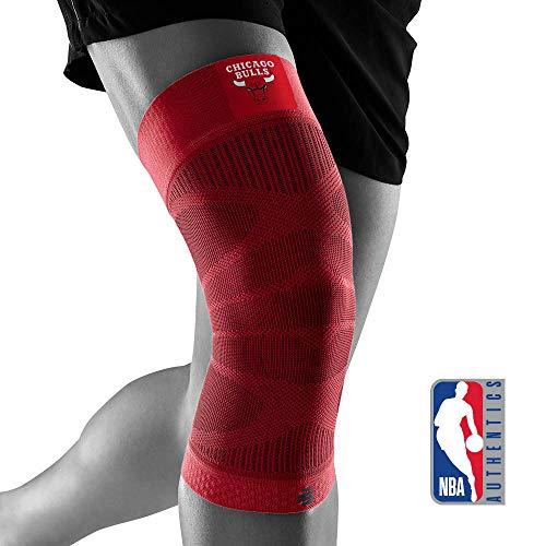 BAUERFEIND Unisex-Adult Sports Compression Knee Support NBA Kniebandage, Chicago Bulls, M