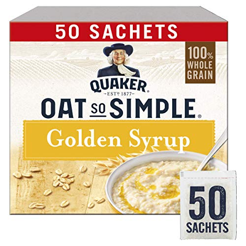 Quaker Oat So Simple Golden Syrup Gachas de avena, 50 x 36 g