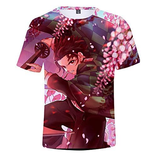 3D print grappige Demon Slayer grafisch T-shirt zomer casual korte mouwen shirt